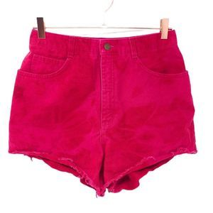 Talbots Womens 10P Red Bleach Distressed S…